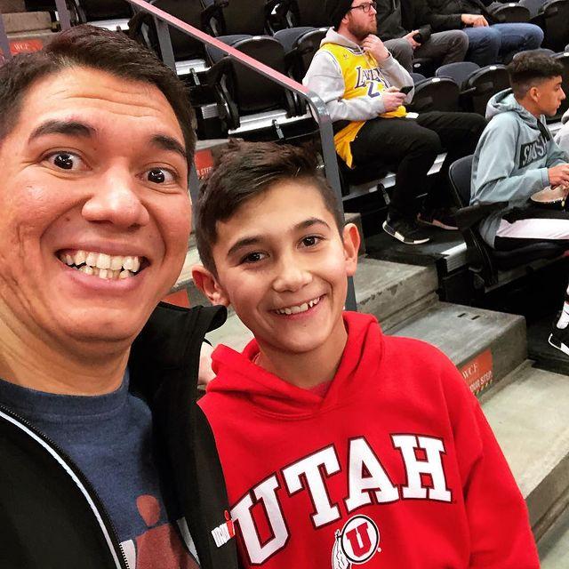 Michael Langell goes to the Lakers vs Jazz game in Salt Lake City, UT
